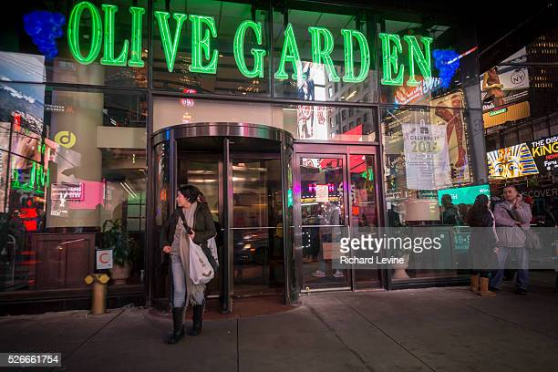 An Olive Garden restaurant in Times Square in New York is seen on Tuesday December 22 2015