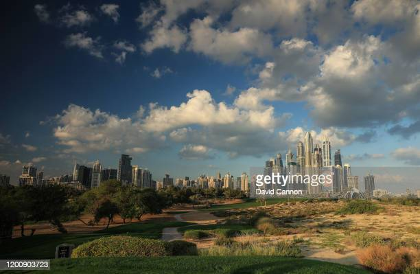 NOTE An on camera graduated ND filter used in this image A general view of the par 4 eighth hole as a preview for the Omega Dubai Desert Classic on...