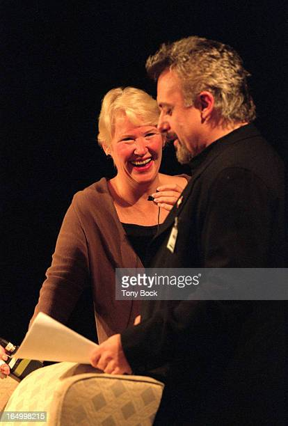 An on stage interview of Annie Dillard by local author Paul William Roberts