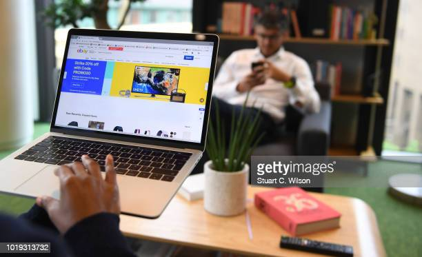 An online shopper uses the eBay website on May 30 in London England eBay remains at the forefront of online retailThe original disruptor of the...