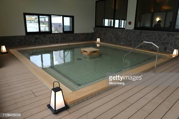 An onsen bath is seen at the Solaniwa Onsen spa at Osaka Bay Tower during a media tour in Osaka Japan on Thursday Feb 21 2019 Fortress Investment...