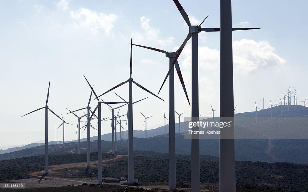 Wind Farm In Tangier, Morocco : News Photo