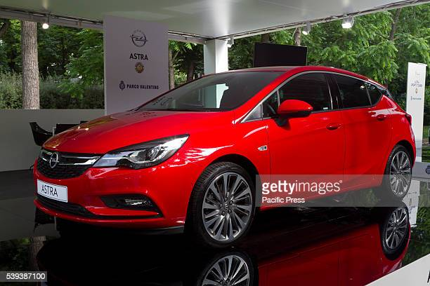 An Opel Astra during the Parco Valentino car show They host cars from worldwide manufacturers