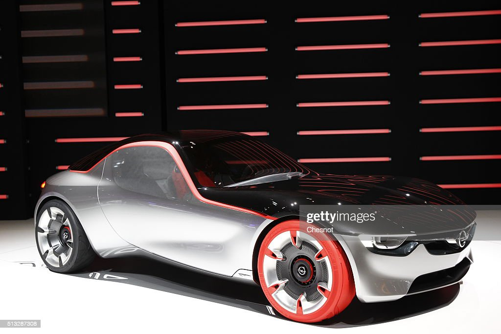 An Opel GT concept car is displayed during the second press day of the 86th Geneva International Motor Show on March 2, 2016 in Geneva, Switzerland. The 86th International Motor Show runs from March 3 -13 and features production and concept cars from the World's biggest car manufacturers.