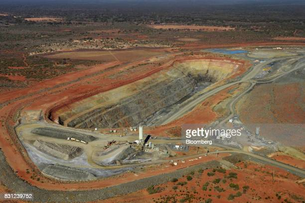 An open pit mine at Northern Star Resources Ltd's Kalgoorlie Operations is seen in this aerial photograph taken near Kalgoorlie Australia on Sunday...