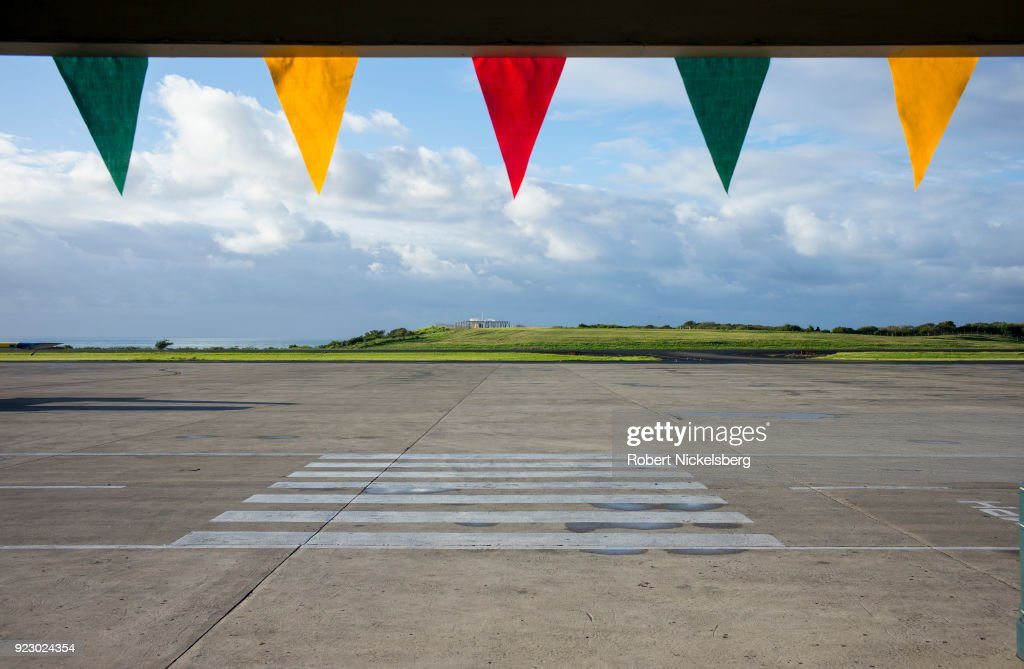 An open runway can be seen February 2, 2018 at the Maurice Bishop International Airport in St. George's, Grenada.