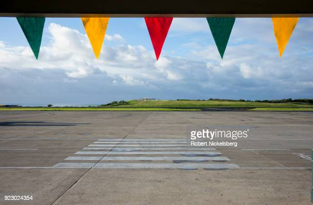 An open runway can be seen February 2 2018 at the Maurice Bishop International Airport in St George's Grenada