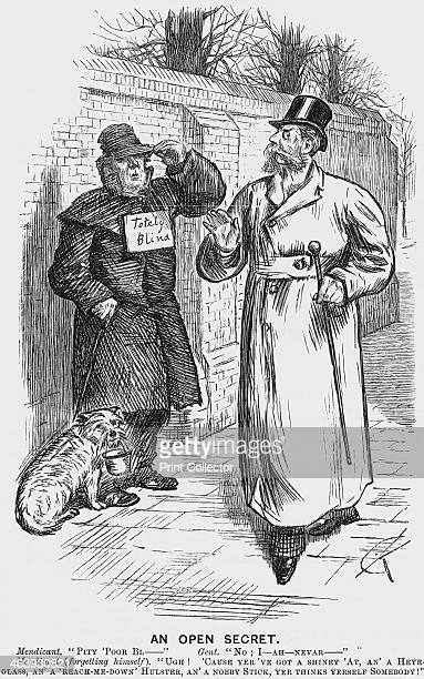 'An Open Secret' 1888 The 'blind' man is not an honest beggar but is instead intent along with his little dog on fleecing a philanthropic public From...