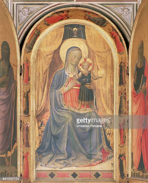 An open view of the central panel from Linaiuoli Triptych by Fra Angelico | Part of: 'Linaiuoli Triptych' by Fra Angelico. Located in: Museo di San...