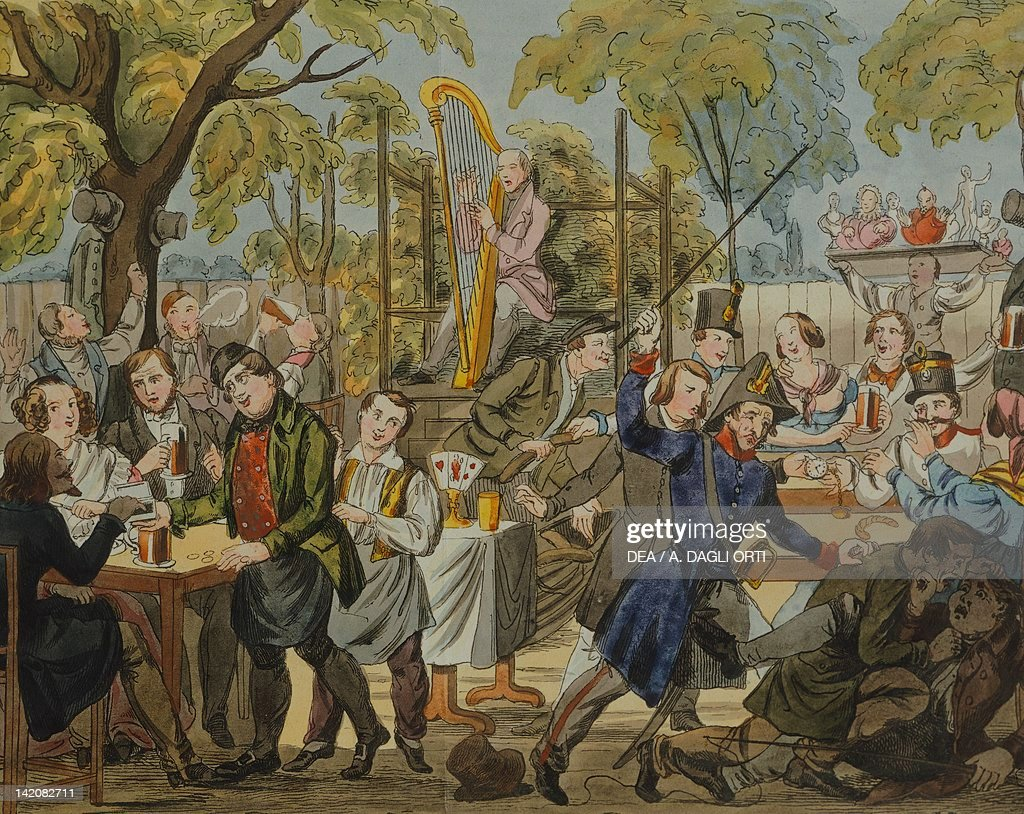 an open air cafe in vienna austria 19th century pictures getty
