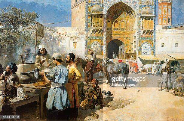 'An OpenAir Restaurant Lahore' c1889 From a private collection