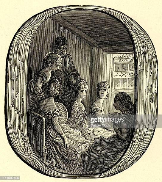 An opera box at the Royal Opera House Covent Garden London early 1870's Engraving by Gustave Doré from 'London a Pilgrimage by Gustave Doré and...