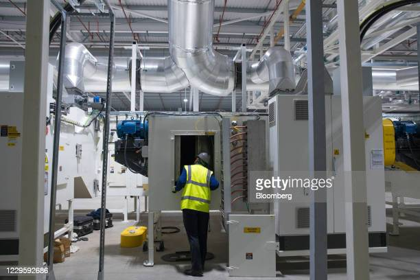 An operator inspects electrode drying ovens at the U.K. Battery Industrialization Centre in Coventry, U.K. On Monday, Nov. 9, 2020. The Centre is a...