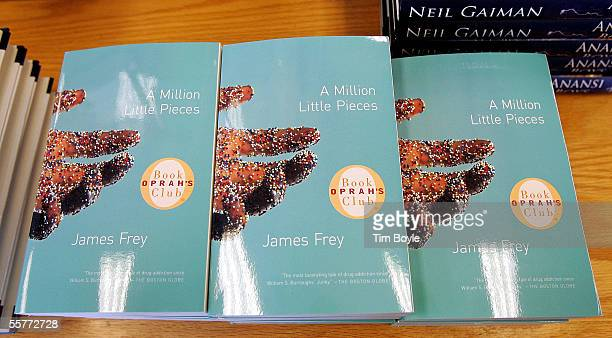 """An Oprah's Book Club book titled """"A Million Little Pieces"""" by James Frey is displayed at a Borders Book store September 26, 2005 in Norridge,..."""