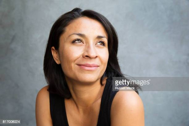 An optimistic looking young woman