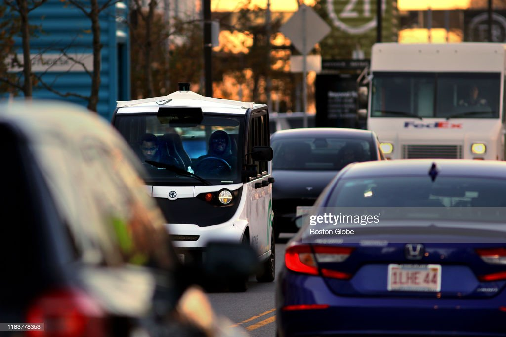Seeing Red: The Get-It-Now Age Of Uber And Amazon Delivers New Traffic To Boston's Doorstep : News Photo