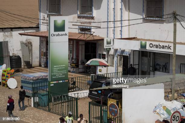 An Orabank Guinea Bissau bank branch stands in Bissau GuineaBissau on Monday Feb 12 2018 The International Monetary Fund said an increase in public...