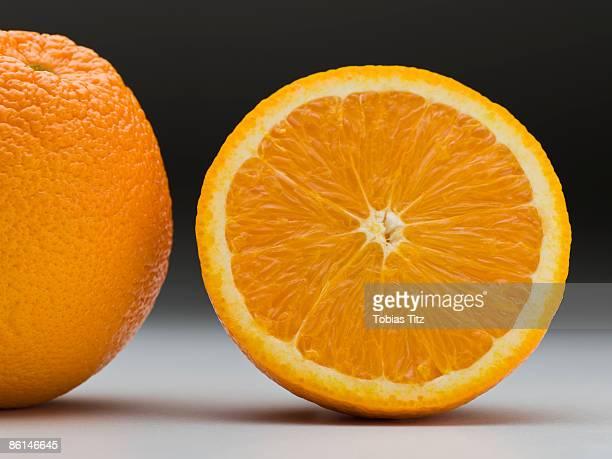 an orange and a half - 果肉 ストックフォトと画像