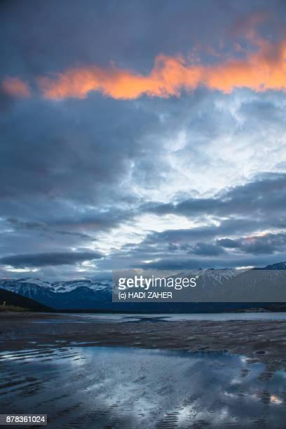 An orange cloud over a lake | Jasper National Park | Alberta | Canada