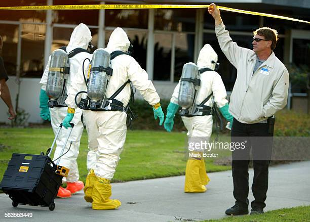 –An Orange County Fire Authority Hazardous Materials team suited–up and entered the administration offices at the Fairview Developmental Center in...