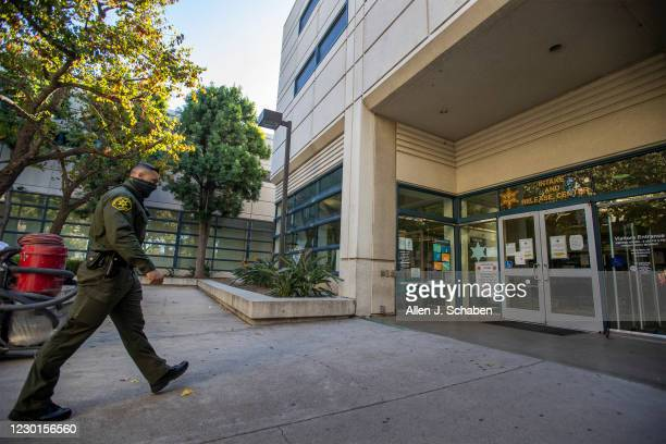 December 15: An Orange County Sheriffs deputy walks into the Intake and Release center at the the Orange County Central Men's Jail in Santa Ana...