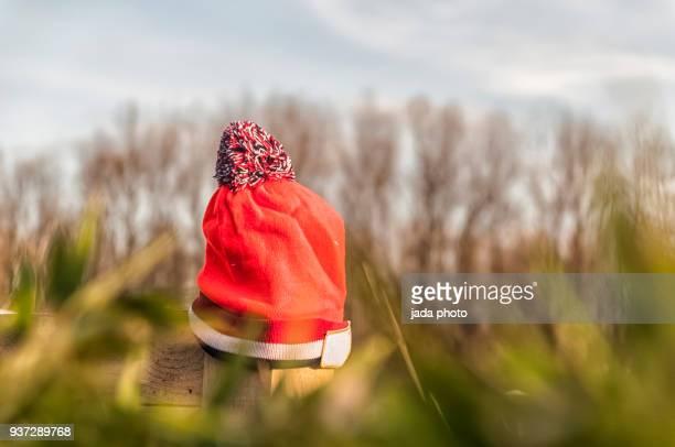 an orange hat outdoor