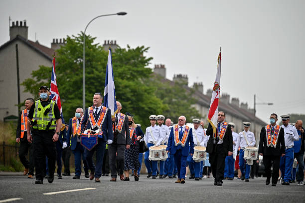 GBR: Orange Order Marches Take Place In Glasgow
