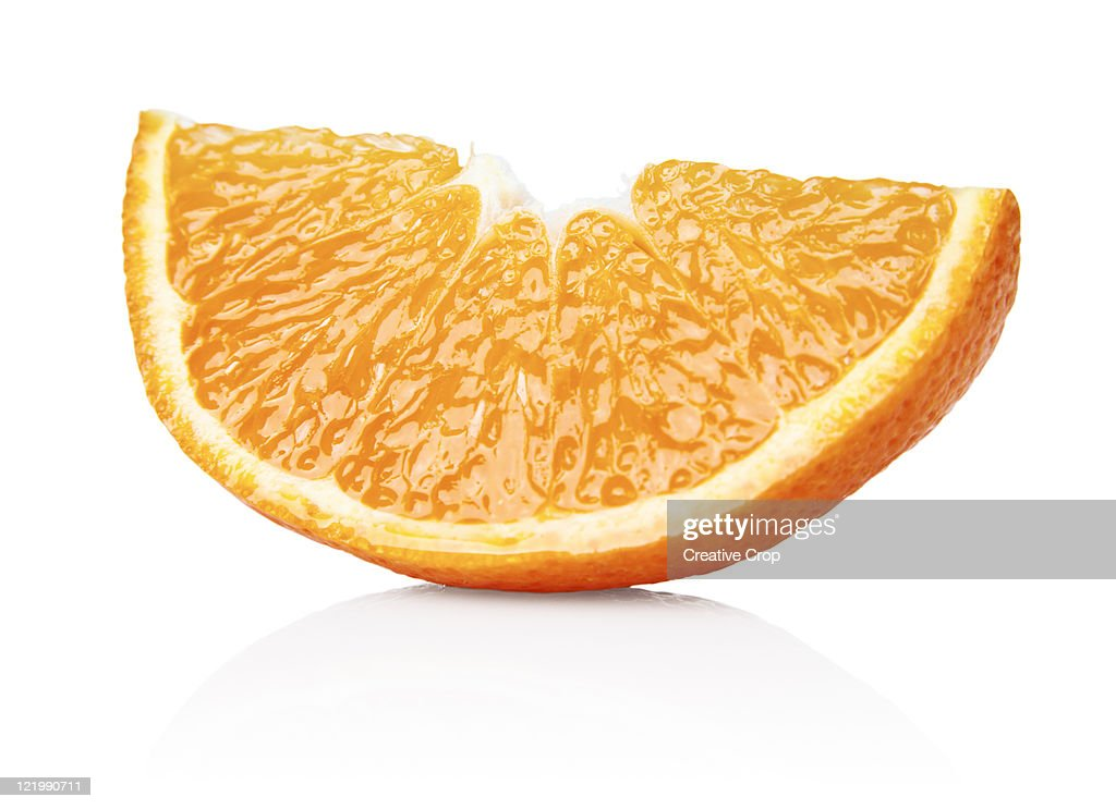 An orange segment : Stock Photo