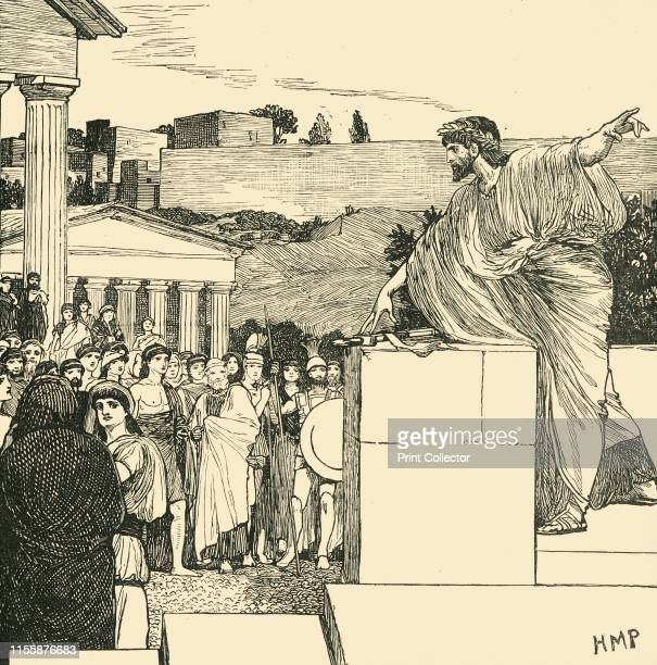 An Oration of Demosthenes', 1890. Demosthenes , Greek statesman and orator, worked as a professional speech-writer and lawyer. His orations provide...
