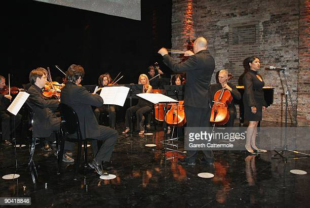 An orchestra entertains the guests at the Swarovski hosted 'The Passage' Party during the 66th Venice Film Festival on September 6 2009 in Venice...