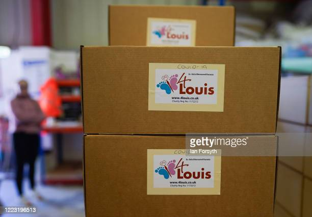 An order of memory boxes for a hospital wait to be collected by courier at the 4Louis charity on May 06 2020 in Sunderland United Kingdom 4Louis...