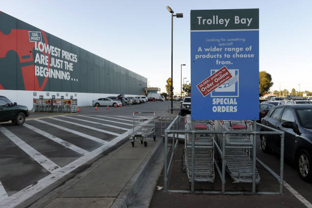 AUS: Operations At A Bunnings Warehouse Hardware Store Amid Optimism Over Lockdown Easing