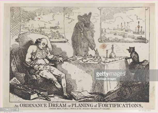 An Ordinance Dream or Planning of Fortifications March 7 1786 Artist Thomas Rowlandson
