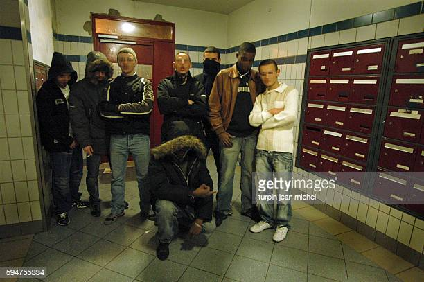An ordinary evening for the youth living in building 112 of an Aubervilliers housing project