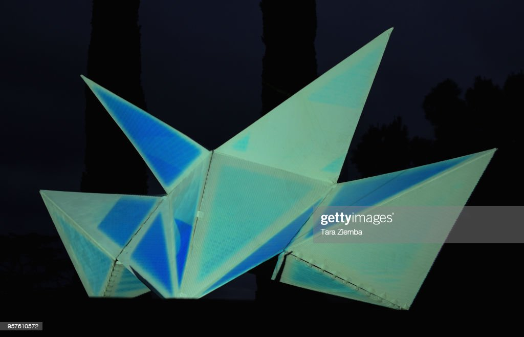 An Origami Spaceship Is Seen At The Lemaitre X Betty Who Release