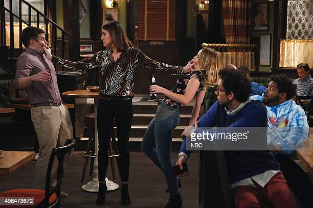 UNDATEABLE An Origin Story Walks Into a Bar Episode 307A Pictured Brent Morin as Justin Christa Miller as Jackie Bridgit Mendler as Candace Rick...
