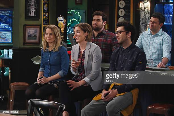 UNDATEABLE An Origin Story Walks Into a Bar Episode 307A Pictured Bridgit Mendler as Candace Bianca Kajlich as Leslie David Fynn as Brett Rick...