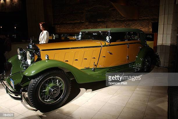 An original 1932 Maybach sedan is displayed at the preview of the new Maybach brand car by Mercedes Benz USA March 26 2002 in New York City The...