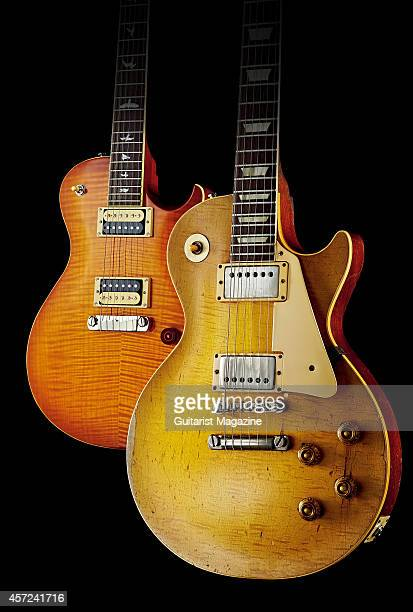 An original 1959 Gibson Les Paul Standard electric guitar belonging to English rock musician Bernie Marsden and valued at over £300 alongside a 2012...