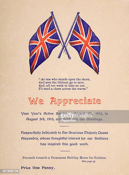 An original Card of Appreciation for sale to fund the establishment of a permanent holiday home for British soldiers in Lowestoft during World War...