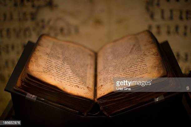 An original handwritten Facsimilia of Khabouris Codex complete New Testament in Syriac from the 11th century is displayed the Book of Books...