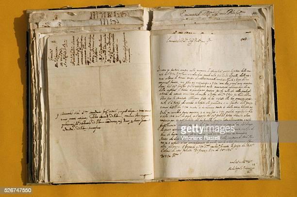 An original manuscript penned by the Italian physicist Galileo Galilei