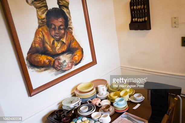 An original painting hangs over a collection of antique Russel Wright pottery Harold Mays and Harold Herman were an interracial gay couple for 50...