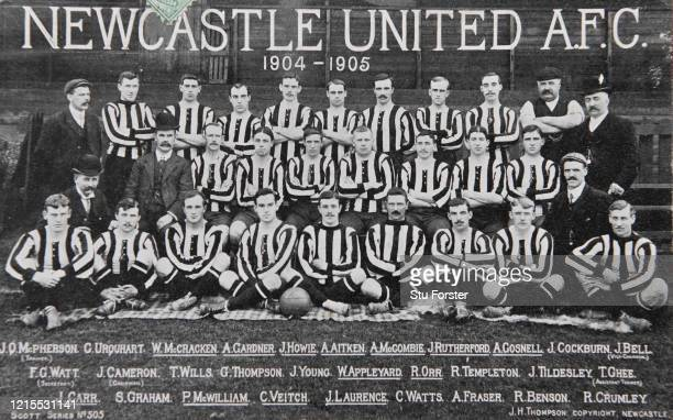 An original postcard showing the Newcastle United Championship winning squad for the 1904 05 season including star players Colin Veitch James...