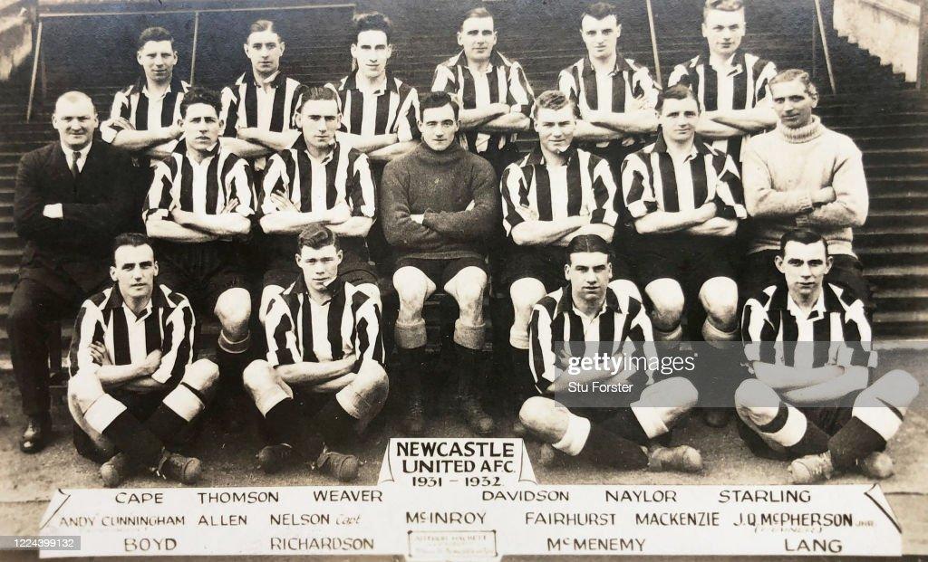 Newcastle United Postcard 1931-32 : News Photo