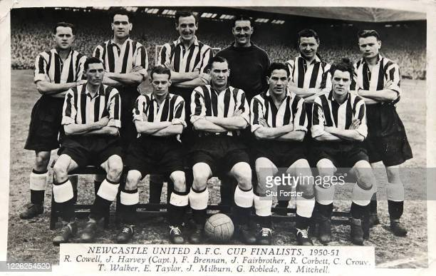 An original postcard showing the Newcastle United squad from their FA Cup winning season of 1951 pictured include Jackie Milburn George Robledo Frank...