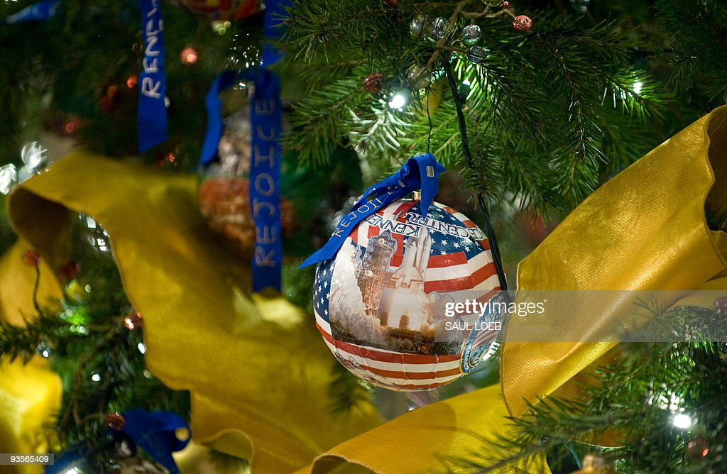 An Ornament With The Kennedy Space Center Hangs On The Official White House  Christmas Tree In