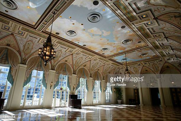 An ornate ballroom inside the Breakers Hotel is shown August 18 2002 in Palm Beach Florida It is reported that television journalist Bryant Gumbel...