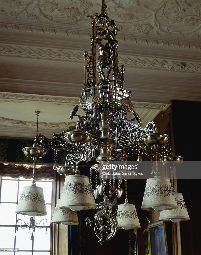 Calke chandelier pictures getty images an ornate chandelier hangs from the ceiling in calke abbey derbyshire circa 2005 aloadofball Gallery