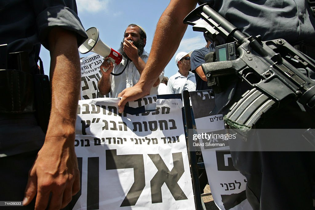 An Orthodox Jewish protestor shouts anti- homosexual slogans from behind a police cordon during the annual Gay Pride rally, on June 8, 2007 Tel Aviv, Israel's most cosmopolitan city. Thousands of alternative lifestyle Israelis took advantage of the mild summer weather to celebrate sexual freedom amidst calls from Jewish, Muslim and Christian religious leaders to ban a similar rally in Jerusalem later this month.